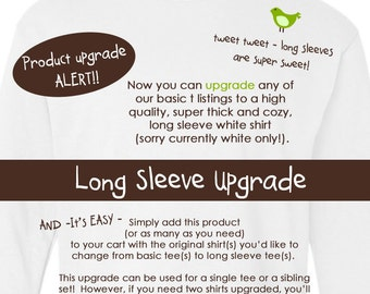 upgrade to longsleeve shirts or bodysuits with this product