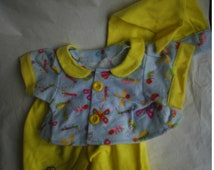 This 3 piece set fits Build a Bear Clothes Bug Pajamas fits Hello Kitty HandMade Doll Clothes