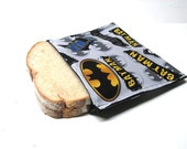 Reusable Snack Bag, Batman Large Snack Bag,  Eco Friendly Lunch Bag, Boys Lunch Kit, Back to School,  Ready to Ship