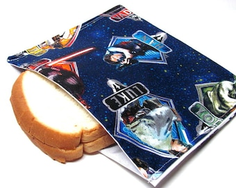 Reusable Sandwich Bag Star Wars Eco Friendly Lunch Bag, Back to School,