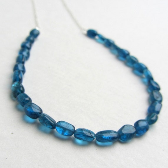RESERVED FOR EMILY Cobalt Blue Apatite Necklace - Classic Handmade Jewelry - Sterling Silver Necklace