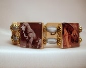 BLOODHOUND Bracelet / DOG LOVER Gift / Upcycled / Scrabble Jewelry