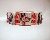 Scottie Bracelet / SCRABBLE Handmade Jewelry / Dog Lover / Scottish Terrier / Unusual Gifts- 2