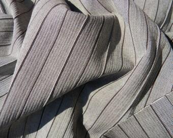 Luxurious Italian Wool Fabric with a Faint Ridged Chevron Design