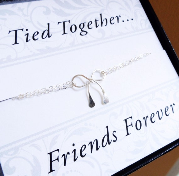 Best Gift For Friend S Wedding: Items Similar To Sterling Silver Bow NECKLACE, Friendship