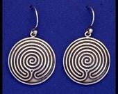 CHAKRA-VYUHA LABYRINTH- Sterling Silver- Earrings