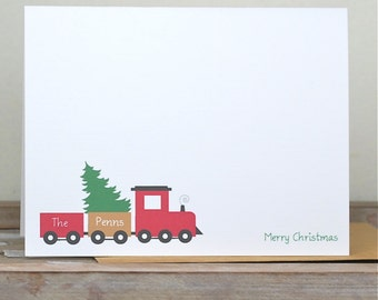 Christmas Cards . Holiday Cards . Personalized Christmas Cards - Christmas Tree Delivery