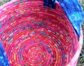 Colorful Cauldron - Fireworks (Coiled Rope Basket)