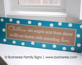 Painted Sign with Children Quote - Customized with the colors of your choice - Item Number ETS-32