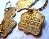 Vintage Las Vegas Golden Nugget Casino Key Chain Pendant Souvenir