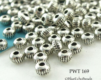 3mm Mini Pewter Spacer Beads Antique Silver 3x2mm (PWT 169) 100 pcs BlueEchoBeads