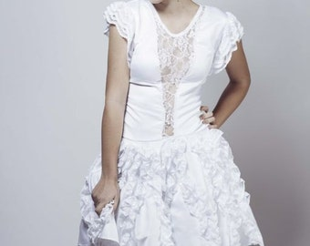 SAMPLE SALE White Lace Holiday Dress-Sz Small