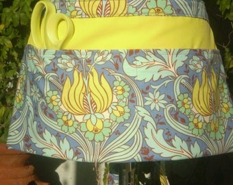 Utility Apron in Amy Butler Soul Blossoms Cotton Fabric