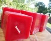 CANDY APPLE - Square Votive Candle 6pk