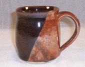 Ceramic Mug Brown, Tomato Red Coffee Cup Handmade Wheel Thrown Stoneware Coffee mugs Ceramics Pottery