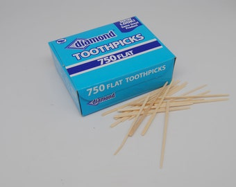 Diamond Brand Flat Wood Toothpicks || Bar Supplies || Oral Care || Party Supplies