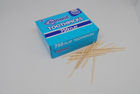 Flat Toothpicks 750 Wooden Toothpicks Diamond Brand Wood