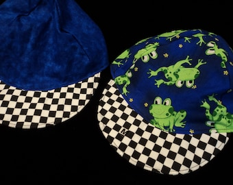 Reversible Froggie Baseball hat sizes newborn to adult