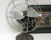 Vintage Barber Colman BarCol Table Fan 2 Blade Bakelite Art Deco