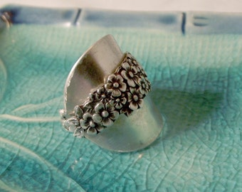 Sterling Silver Spoon Ring -  Full Wrap