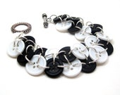 Button Bracelet - Black and White by randomcreative on Etsy