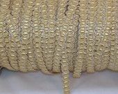 Gimp Gold Metallic with Tiny Yellow Ribbon- Trim Me Up 5 Yards Destash