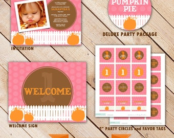 Deluxe Custom Printable Party Package...PUMPKIN PIE Collection...Personalized...by KM Thomas Designs