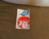 VINTAGE NOS Royal Crown Cola RC Decal Sticker