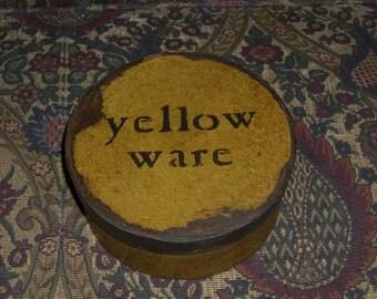 Paper Mache Vintage Yellowware Box