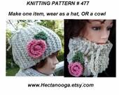 KNITTING PATTERN - Hat, cowl, accessories, women, children, clothing, num. 477