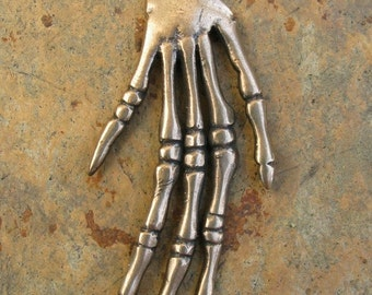 Bronze Skeleton Hand Pendant