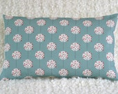 Mini Moonlight Tree in Sea Green Bolster cushion cover pillow sham