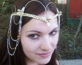 Renaissance Wedding Tiara Headdress Custom colors
