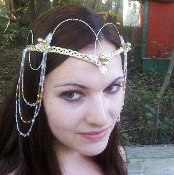 Renaissance Wedding Tiara Headdress Custom colors