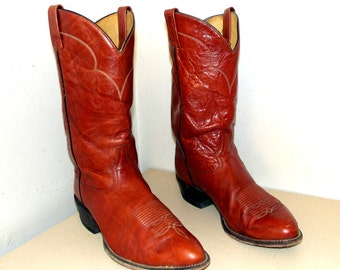 Tony Lama brown  Leather western cowboy boots size  11 EE
