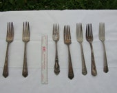 Vintage silverplate forks for upcycling