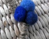Mini Wedding Boutonniere for Ring Bearer felt burlap pompom craspedia billy button ball flower, choose your color(s)