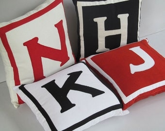 Personalized monogram pillows, monogram pillow, monogrammed pillow, monogrammed pillows, monogram pillow cover - choose your colors and Size
