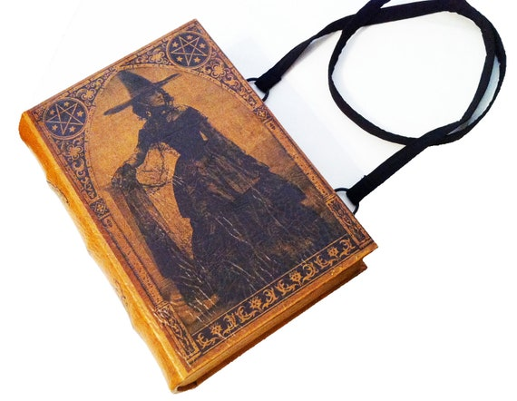 Vintage Witch Book Purse and IPad Holder - PREORDER