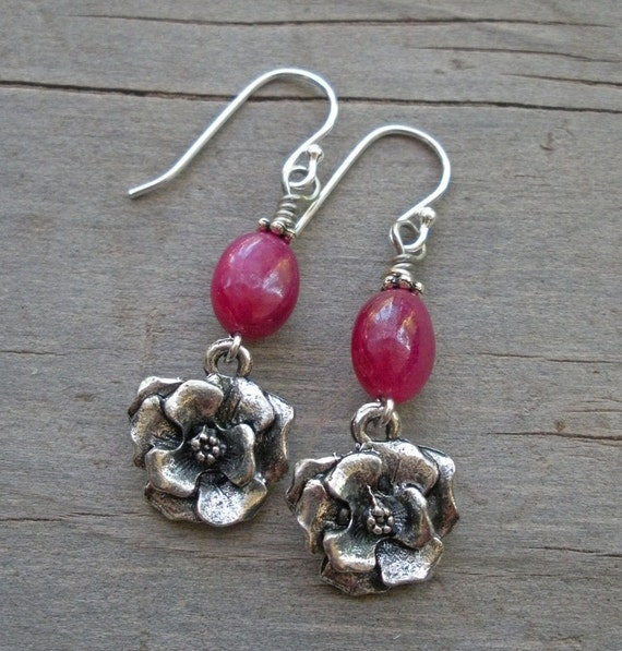 Rubies & Roses Healing Gemstone Earrings