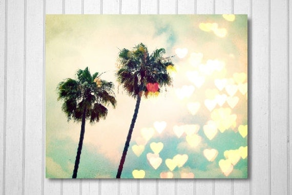 BUY 2 GET 1 FREE California Photography, Los Angeles Art, Palm Tree Photo, Nature Photography, Heart Bokeh, Cali Love - Palm Tree Bokeh
