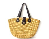 large woven straw bag