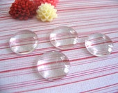 20 pk...18mm Circle Glass Tiles...Cabochons...Great for earrings, rings, and pendant trays