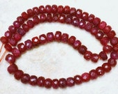 Real Ruby 3-3.5mm (15 Precious Faceted Rondelle) Gemstone Beads 4.5 ctw A Grade ETSY-A