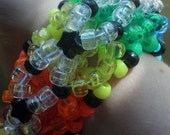 3D rainbow brite cuff black