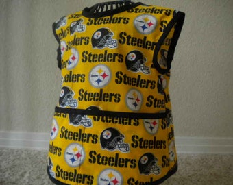 Steelers Art Smock or Apron with a Black Trim. Size 3t-4t.