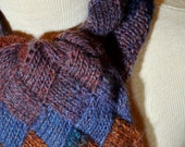 Entrelac Scarf in Nighttime Shades RESERVED for Mieke