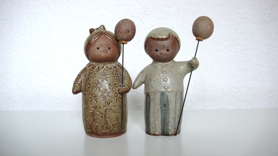 Japanese Modern Boy and Girl Salt and Pepper Shakers
