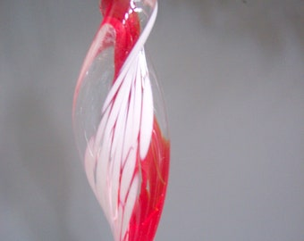 Hand Blown Art Glass Icicle Ornament  Suncatchers by Riker Art Glass