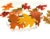 Autumn Leaves Headband, Fall Head Wreath, Felt Oak Leaves Maple Leaves, Fall Headband Red Brown Orange Mustard Yellow